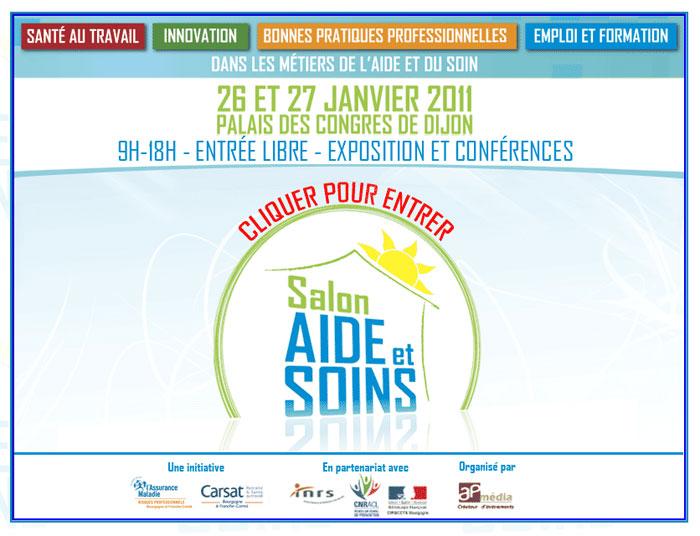 Salon aide et soins les 26 et 27 janvier 2011 dijon - Salon de l emploi palais des congres ...