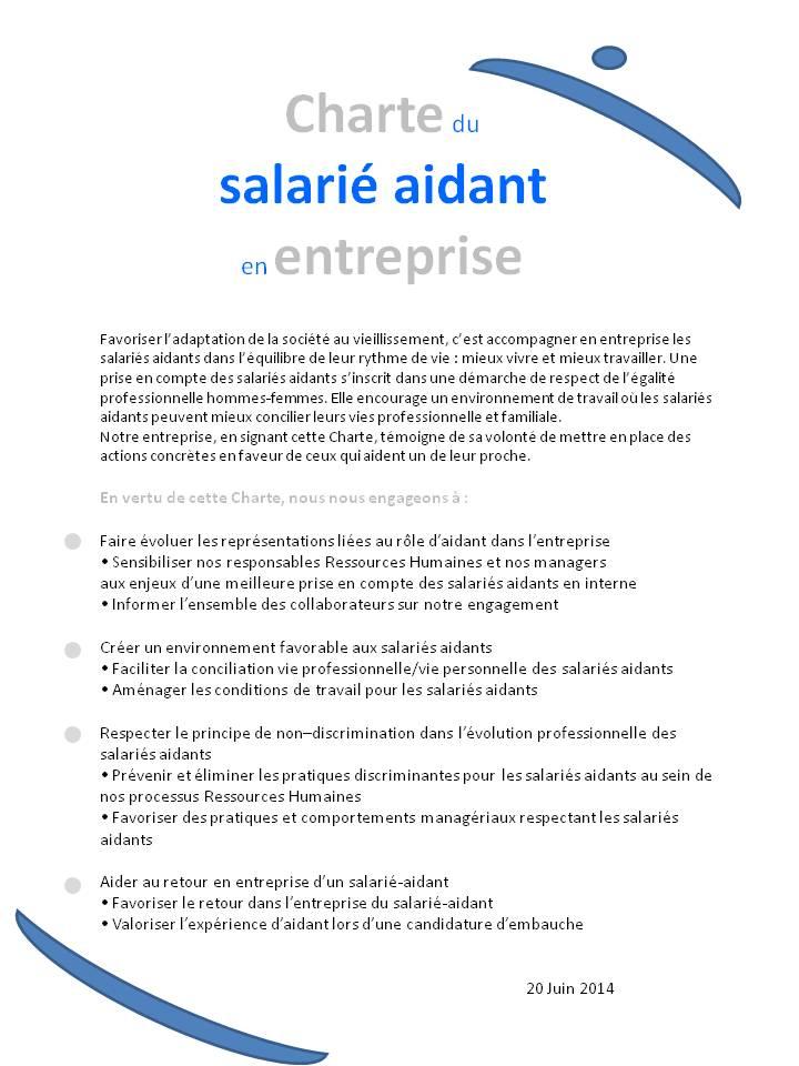 La Charte des salariés-aidants en entreprise