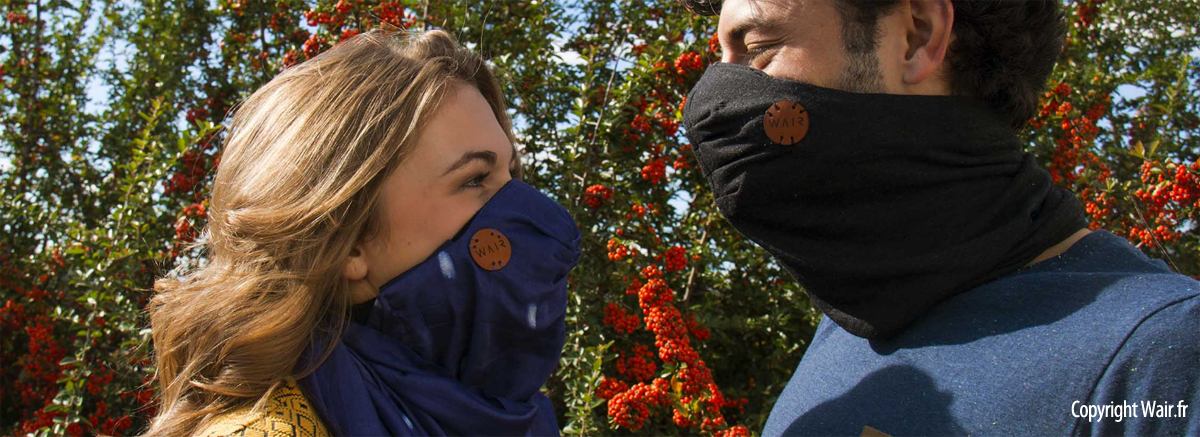 Découvrez WAIR, le foulard anti-pollution